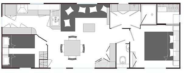 Plan du Mobilhome Baltimore