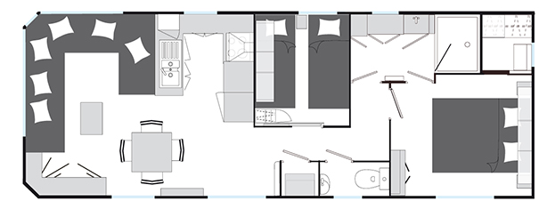 Plan du mobilhome Charleston Louisiane