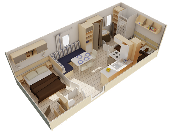 vue 3D Mobilhome neuf Oakley